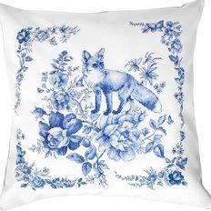 фото: подушка для вышивки крестиком Лиса в лесу