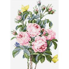 фото: картина, вышитая крестиком, Букет роз