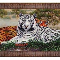 Набор для вышивки бисером Саванна Тигры