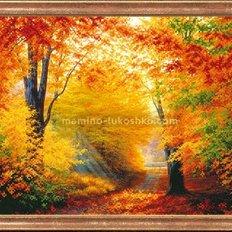 Схема для вышивки бисером Разноцветная осень