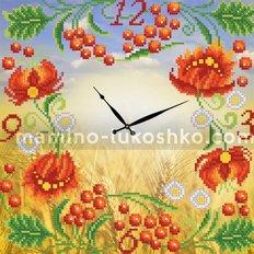 Схема для вышивки бисером Часы. Петриковская роспись