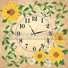 Схема для вышивки бисером Часы. Солнечные цветы