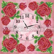 Схема для вышивки бисером Часы. Королевская роза