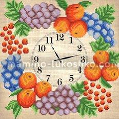 Схема для вышивки бисером Часы. Фруктовый веночек