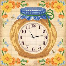Схема для вышивки бисером Часы. Сладкий мед