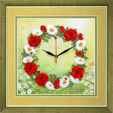 Набор для вышивки лентами Часы. Время цветов