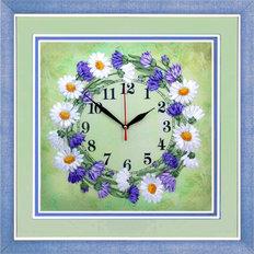 Набор для вышивки лентами Часы. Солнечный веночек