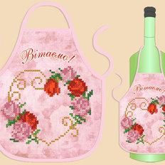 Фартук на бутылку для вышивания бисером ФБ-005