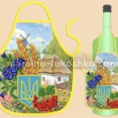 Фартук на бутылку для вышивания бисером ФБ-022