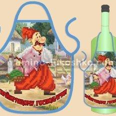 Фартук на бутылку для вышивания бисером ФБ-038 Найкращому господарю