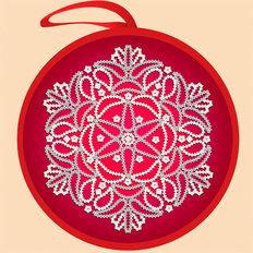 Схема для вышивки бисером Елочная игрушка. Красный шар