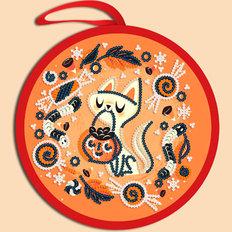 фото: схема для вышивки бисером Игрушка Halloween. Веселого Хэллоуина