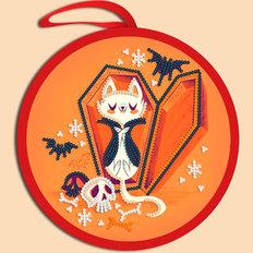 фото: схема для вышивки бисером Игрушка Halloween. Кот Дракула