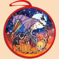 фото: схема для вышивки бисером Игрушка Halloween. Колдунья