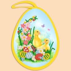 фото: пасхальная игрушка для вышивки бисером, Пасхальное яйцо. Утята