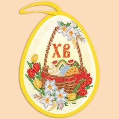 фото: пасхальная игрушка для вышивки бисером, Пасхальное яйцо. Корзинка