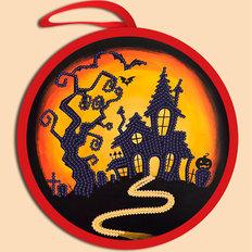 фото: схема для вышивки бисером Игрушка Halloween. Дом Дракулы
