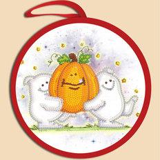 фото: схема для вышивки бисером Игрушка Halloween. Призраки с тыквой