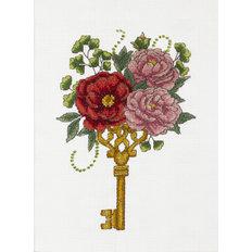 Набор для вышивки крестом Заветный ключик