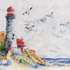 фото: картина для вышивки крестиком Маяк