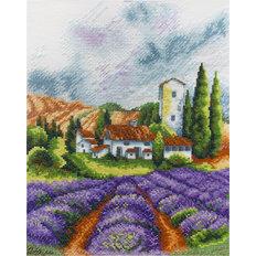 фото: картина для вышивки крестиком Лавандовое поле