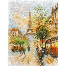 фото: картина для вышивки крестиком Парижская осень
