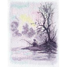 фото: картина для вышивки крестиком Утро на озере