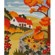 фото: набор для вышивки нитками Оранжевая осень