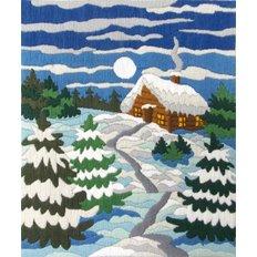 Набор для вышивки нитками Зимняя ночь