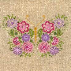фото: набор для вышивки нитками Воздушная красавица