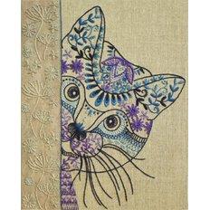 Набор для вышивки нитками Любопытный кот