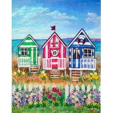 фото: картина для вышивки декоративными швами Пляжные домики