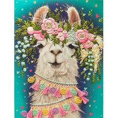 фото: картина для вышивки декоративными швами Цветочная леди