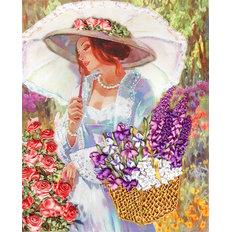 фото: набор для вышивания лентами В ее саду