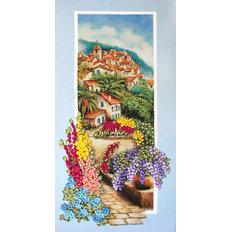 фото: картина для вышивки лентами, Красные крыши Черногории
