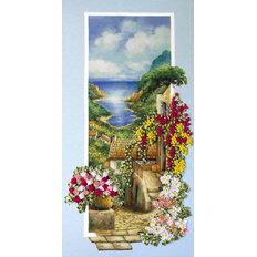 фото: картина для вышивки лентами, Теплое море Италии