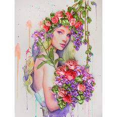 фото: картина для вышивки лентами Цветущая фантазия
