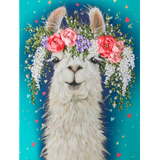 фото: картина для вышивки лентами Лама