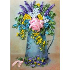 Набор для вышивки лентами Роза в лейке (по картине Е. Вавилиной)