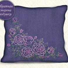 Набор для вышивки нитками Подушка. Розы