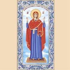 Схема для вышивки бисером иконы Образ Пресвятой Богородицы Нерушимая Стена
