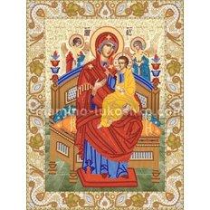 Схема для вышивки бисером Икона Божией Матери Всецарица