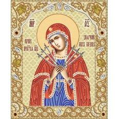 Схема для вышивки бисером Икона Божией Матери Умягчение злых сердец
