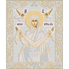 изображение: икона для вышивки бисером Покров Богородицы