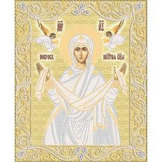 изображение: икона для вышивки бисером Покров Богородицы (золото)