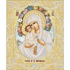 изображение: икона для вышивки бисером Жировицкая икона Божией Матери (золото)