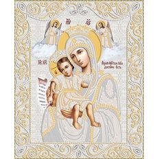 изображение: икона для вышивки бисером Икона Божией Матери Достойно есть (Милующая) (серебро)