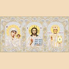 изображение: икона для вышивки бисером Домашний иконостас (серебро)
