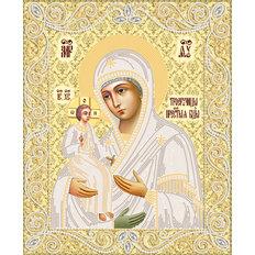 изображение: Икона Божия Матерь Троеручица, вышитая бисером