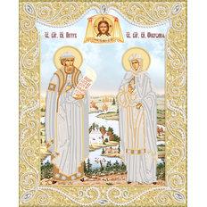 изображение: икона для вышивки бисером Петр и Феврония